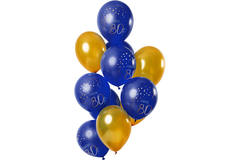 Balloons Elegant True Blue 80 Years 30cm - 12 pieces 1