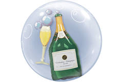 Champagne Bottle Bubbles Balloon - 61 cm 1